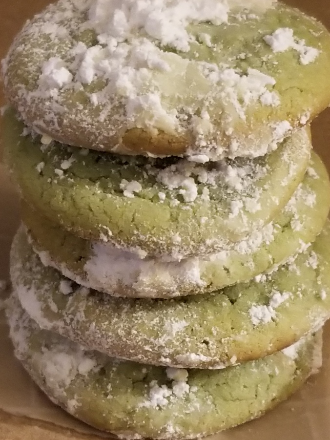 Stack of Pistachio Pudding Cookies