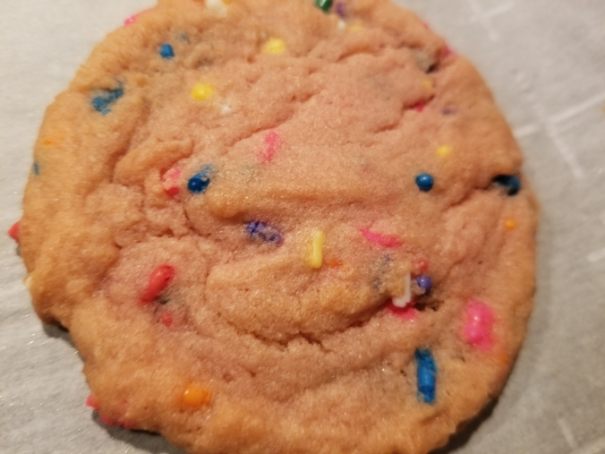 Strawberry Pudding Confetti Cookie