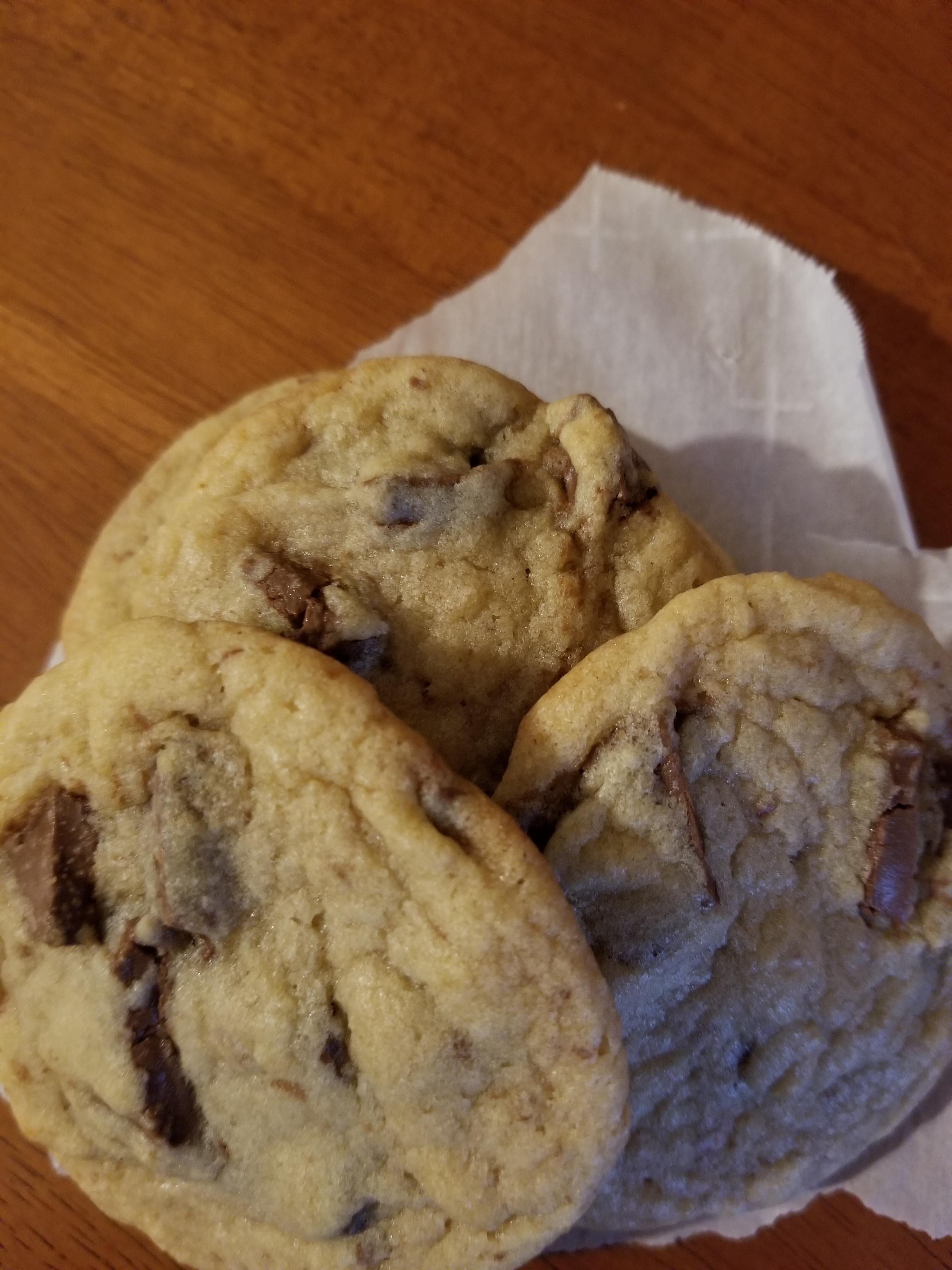 A pile of Hershey Chunk Cookies
