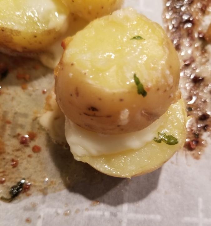 Baby Potato & Mozzarella Stacks