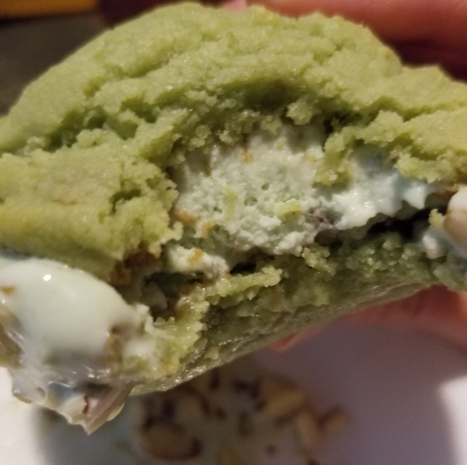 Double Pistachio Ice Cream Sandwich