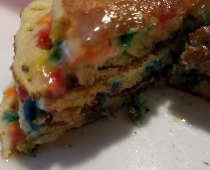 Funfetti pancakes with glaze