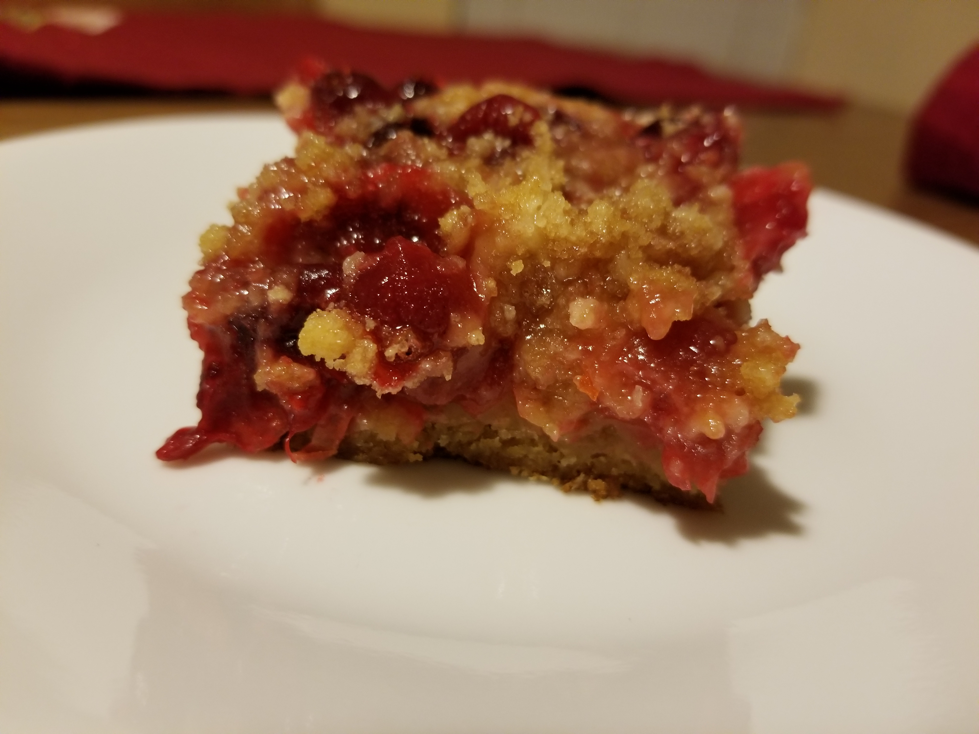 Cranberry Streusel Bar